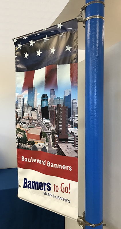 Boulevard Banners for pole or building mount - several sizes available