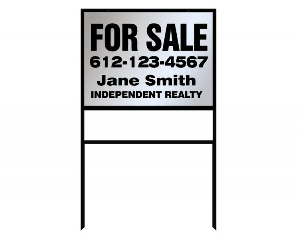 Real Estate Sign Company- Metal Example
