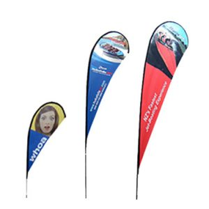 Outdoor Teardrop Banners Example 1